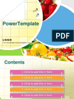 Fresh fruit PPT template.ppt