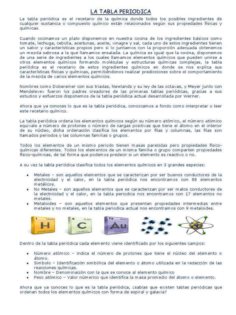 la tabla periodica1 - Tabla Periodica Con Nombres Y Peso Atomico