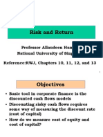 Risk and Return Review Lecture