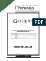 Osiptel - Norma que modifica las Condiciones de Uso de los Servicios Públicos de Telecomunicaciones