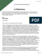 Track II (Citizen) Diplomacy
