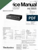 Technics Rs-b605 Service Manual