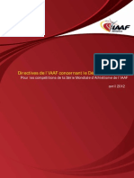 IAAF Starting Guidelines