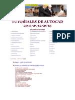 TUTOR AUTOCAD 2011 2012 2013