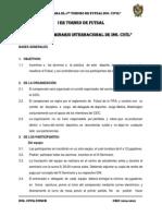 Bases Del 1er Torneo de Futsal Ing. Civil
