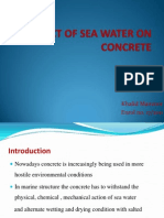 Effect of Marine Water on Concrete Made From