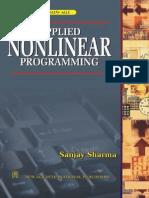Applied Nonlinear Applied Nonlinear ProgrammingProgramming