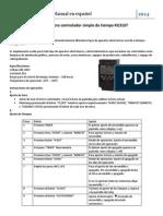 Manual Micro Controlador de Tiempo KG316T