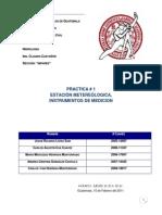 Estacion Metereologica, Instrumentos de medición