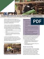 Gender & Livestock- Challenges