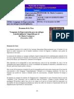 RESUMEN de Clase -Lenguajes de Representación para un Enfoque Transdisciplinario- by Carlos J Flores Saracho v 1.0