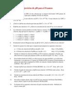 Ejercicios de Estudio pH