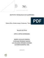 Dilemas Éticos Biotecnologia Eutanasia.