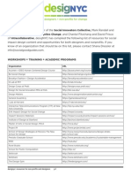 DesigNYC 2014 Resource List