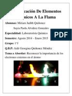 Identificación de Elementos Químicos a La Flama