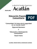 Educación Popular y Comunitaria Ensayo