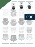 promotional bookmarks- organics