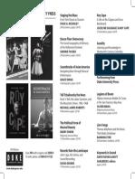 Duke University Press Program Ad for the Society for Ethnomusicology 2014 Conference