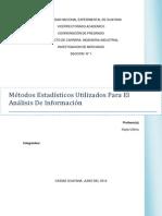 Métodos Estadísticos Utilizados Para El  Análisis De Información
