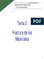 Tema 2. Fractura de Los Materiales