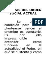 Análisis Del Orden Social Actual