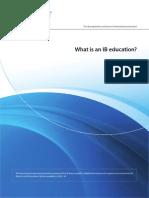 What is an IB Educatıon 2012