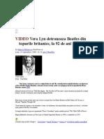 VIDEO Vera Lyn Detroneaza Beatles Din Topurile Britanice