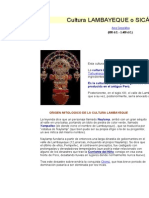 Cultura Lambayeque o Sicán