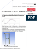 ANSYS Tutorial_ Earthquake Analyses in Workbench - EDR&Medeso