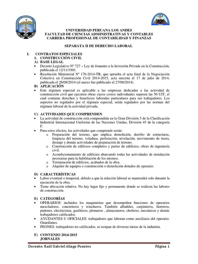 Separata II Derecho Laboral 2014 Contabilidad