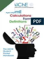 The AICHE Student Pocket Handbook