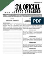 Gaceta Oficial de Carabobo No. 5159