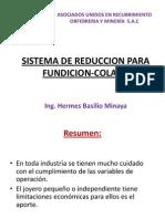 Sistema de Reducción para Fundición Colada