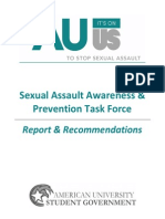 AU It's on Us Report & Recommendations