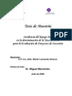 MBA-Gnecco-Incidencia Del Riesgo País en La Tasa de Corte Para La Evaluación de Proeyctos de Inversión