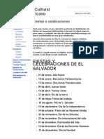 Fiestas o Celebraciones - Patrimonio Cultural Centroamericano
