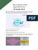 V-Ray Render (Autodesk 3DS Max) - Membuat Light Caustics Menggunakan Mental Ray