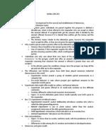 Outline for Pols