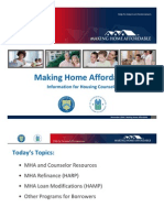 Making Home Affordbale Counselor Training November Presentation