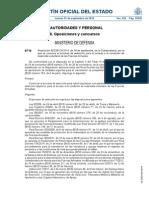 Boe-A-2014-9719 Reservista Ejercito Del Aire Torrejon de Ardoz Ala 12