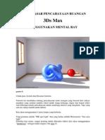 V-Ray Render (Autodesk 3DS Max) - Dasar - Dasar Pencahayaan Ruangan Menggunakan Mental Ray