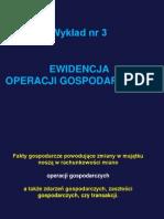Temat 3 Ewidencja Operacji Gospodarczych Na Kontach