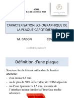 Caracterisation Echographique de La Plaque Carotidienne