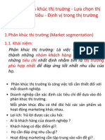 Chapter 4 Market Segment and Targeted Market