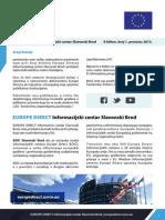 EUROPE DIRECT Informacijski centar Slavonski Brod E-bilten, broj 1, prosinac 2013.