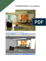 V-Ray Render (GOOGLE SketchUp) - Interior Hotel Render