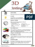 3D Printing FAQ Poster