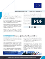 EUROPE DIRECT Informacijski centar Slavonski Brod E-bilten, broj 6, studeni 2014.