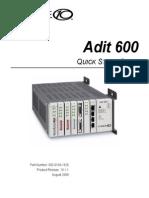 Adit 600 Quick Start 10-1-1