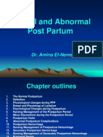 Ch 8 Normal and Abnormal Post Partum